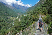 Trekking in Himalayas, Nepal — Stock Photo