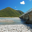 Bridge over the river Waimakariri — Stock Photo