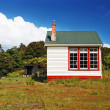 Stock Photo: Typical backcountry hut, New Zealand