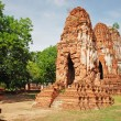 Ruins of ancient wat in Ayutthaya, Thailand - Stock Photo