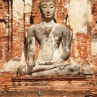 Ancient Buddha statue, Ayutthaya, Thailand — Stock Photo