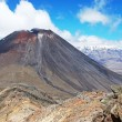 Mount Ngauruhoe and Mt. Ruapehu - Stock fotografie