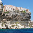 Stock Photo: Village on cliff, Bonifacio, Corsica, France