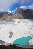 Ngozumba glacier — Stock Photo