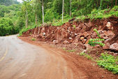 Landslide by the road, Thailand — Stock Photo