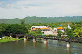 Historical bridge over the river Kwai — Stock Photo
