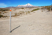 Trekking around Mt. Ruapehu, Tongariro national park, New Zealand — Stock Photo