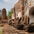 Ruins of ancient wat in Ayutthaya, Thailand — Stock Photo