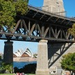 Stock Photo: Park under Harbor bridge, Sydney, Australia
