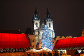 Christmas in Prague in Old Town Square — Stock Photo