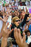Political rally — Stock Photo