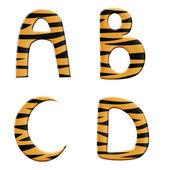 Tiger alphabet part 1 — Stock Photo