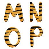 Tiger alphabet part 4 — Stock Photo