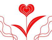 çiçek-kalp — Stok fotoğraf