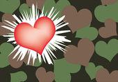 Red heart — Stock Vector