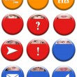 Set of buttons — Stock Photo