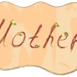 Stock Vector: Word - mother