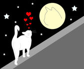 Enamoured cat — Vector de stock