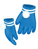Blue gloves — Stock Photo
