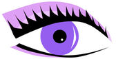 Violet eye — Stock Vector