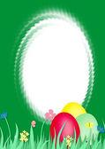 Easter frame — Stock Photo