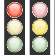 Stock Vector: Traffic light