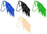 The horse's head — Stock Vector