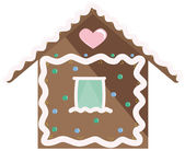 Gingerbread House — Vector de stock