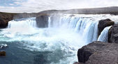 Icelandic waterfall Godafoss — Stock Photo