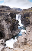 Small waterfall near Djupivogur, Iceland — Stock Photo