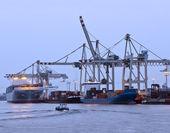 Port for cargo ships — Stock Photo