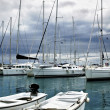 A yachts in marina — Stock Photo