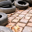 Stock Photo: Discarded tires
