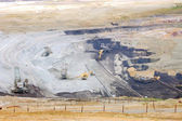 Strip mine with brown coal — Stock Photo