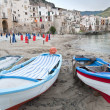 Harbour in Cefalu - Stock Photo