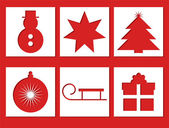 Xmas Icons — Stock Vector