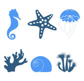 Iconos de mar — Vector de stock