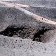 Stock Photo: Way around crater