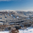 Winter landscape, Lusatian Mountains — Stock Photo