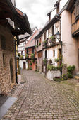 A street in Gothic town — Stock Photo