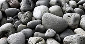 Black lava pebbles — Stock Photo