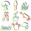 Set of garden icons. — Stock Photo #37595145