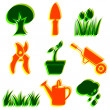 Set of garden icons. — Stock Photo #37595187