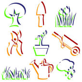 Set of garden icons. — Stock Photo