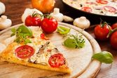 Vegetarian Quiche — Stock Photo