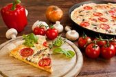 Vegetarian Quiche — Stock Photo