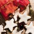 Star-shaped cinnamon cookie — Stock Photo