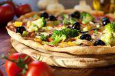 Veggie Pizza — Stock Photo