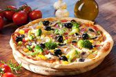 Veggie Pizza — Stock Photo