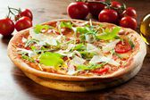 Pizza Arugula — Stock Photo